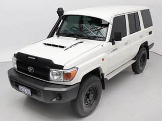2021 Toyota Landcruiser 70 Series VDJ76R Workmate White 5 Speed Manual Wagon