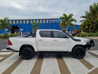 2016 Toyota Hilux GUN126R SR5 Double Cab Glacier White 6 Speed Sports Automatic Utility.