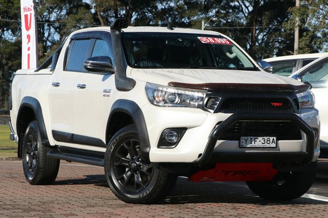 Pre-Owned Toyota Hilux GUN126R SR5 Double Cab Warwick Farm, 2018 Toyota Hilux GUN126R SR5 Double Cab White 6 Speed Sports Automatic Utility
