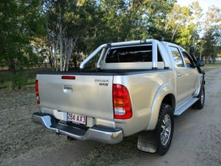 2010 Toyota Hilux KUN26R 09 Upgrade SR5 (4x4) Sterling Silver 5 Speed Manual Dual Cab Pick-up.