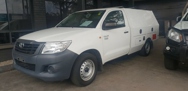 Used Toyota Hilux TGN16R MY12 Workmate Bankstown, 2012 Toyota Hilux TGN16R MY12 Workmate White 5 Speed Manual Cab Chassis