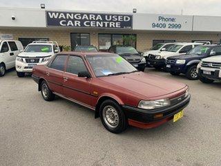 1988 Toyota Camry SV21 CS Red 4 Speed Automatic Sedan.