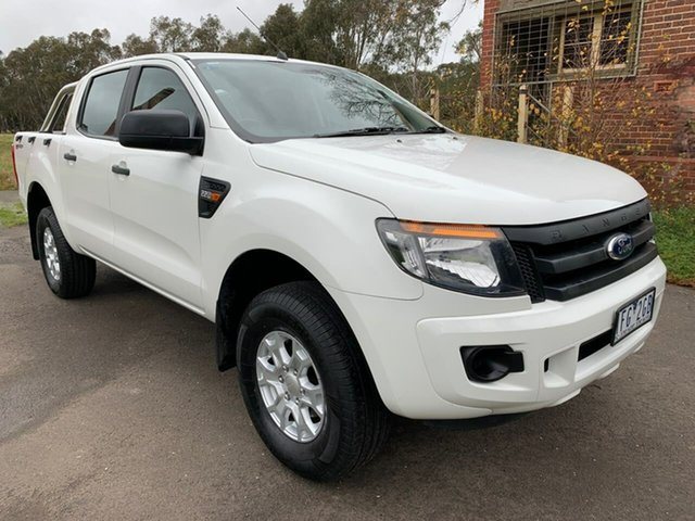 Used Ford Ranger PX XL Hi-Rider Geelong, 2015 Ford Ranger PX XL Hi-Rider White Sports Automatic Utility