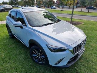 2015 Mazda CX-3 DK2W7A Akari SKYACTIV-Drive Ceramic/black Leather 6 Speed Sports Automatic Wagon.