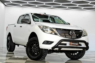 2016 Mazda BT-50 MY16 XT Hi-Rider (4x2) White 6 Speed Manual Dual Cab Utility.