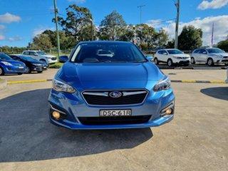 2017 Subaru Impreza G5 MY17 2.0i Premium CVT AWD Blue 7 Speed Constant Variable Hatchback.