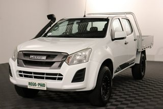 2017 Isuzu D-MAX MY17 SX Crew Cab White 6 speed Automatic Cab Chassis.
