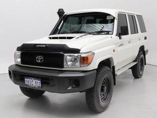 2021 Toyota Landcruiser 70 Series VDJ76R Workmate White 5 Speed Manual Wagon.