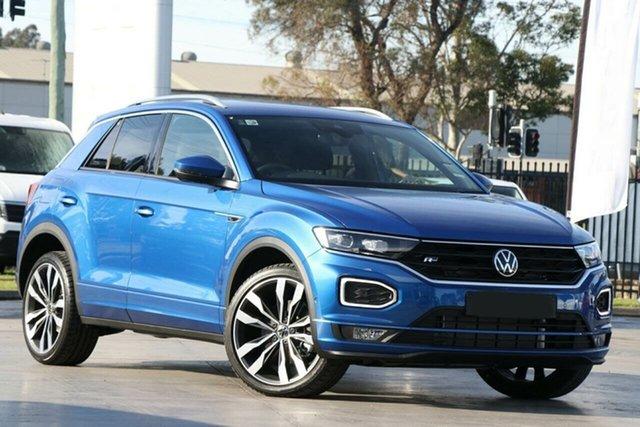 New Volkswagen T-ROC A1 MY21 140TSI DSG 4MOTION Sport Botany, 2021 Volkswagen T-ROC A1 MY21 140TSI DSG 4MOTION Sport Ravenna Blue 7 Speed