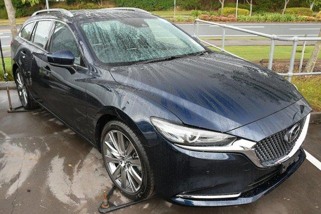 New Mazda 6 GL1033 Atenza SKYACTIV-Drive Liverpool, 2021 Mazda 6 GL1033 Atenza SKYACTIV-Drive Deep Crystal Blue 6 Speed Sports Automatic Wagon