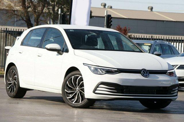New Volkswagen Golf 8 MY21 110TSI Life Toowoomba, 2021 Volkswagen Golf 8 MY21 110TSI Life Pure White 8 Speed Sports Automatic Hatchback