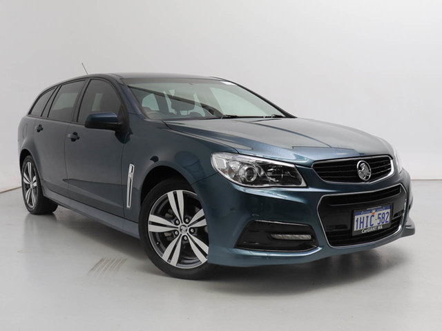 Used Holden Commodore VF SV6, 2014 Holden Commodore VF SV6 Blue 6 Speed Automatic Sportswagon