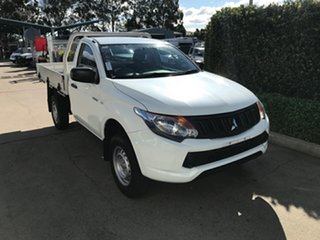 2018 Mitsubishi Triton MQ MY18 GLX 4x2 White 5 speed Automatic Cab Chassis.