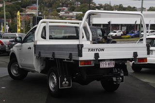 2016 Mitsubishi Triton MQ MY17 GLX 4x2 White 6 Speed Manual Cab Chassis.