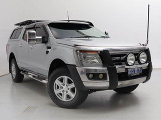 2012 Ford Ranger PX XLT 3.2 (4x4) Silver, Chrome 6 Speed Automatic Double Cab Pick Up.