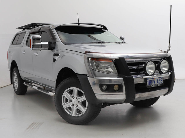 Used Ford Ranger PX XLT 3.2 (4x4), 2012 Ford Ranger PX XLT 3.2 (4x4) Silver, Chrome 6 Speed Automatic Double Cab Pick Up
