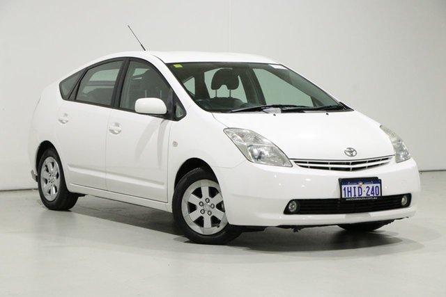 Used Toyota Prius NHW20R Hybrid Bentley, 2005 Toyota Prius NHW20R Hybrid White Continuous Variable Hatchback