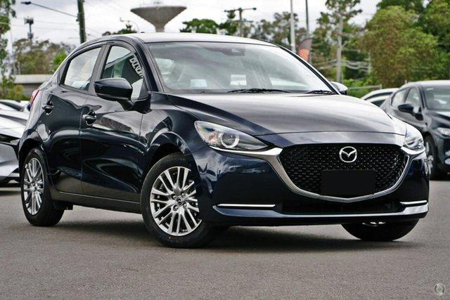 New Mazda 2 DJ2HAA G15 SKYACTIV-Drive Evolve Waitara, 2021 Mazda 2 DJ2HAA G15 SKYACTIV-Drive Evolve Blue 6 Speed Sports Automatic Hatchback