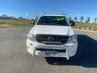 2008 Toyota Hilux GGN15R 08 Upgrade SR White 5 Speed Manual Cab Chassis.