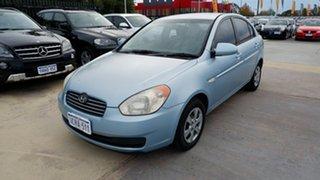 2007 Hyundai Accent MC Blue 4 Speed Automatic Sedan.