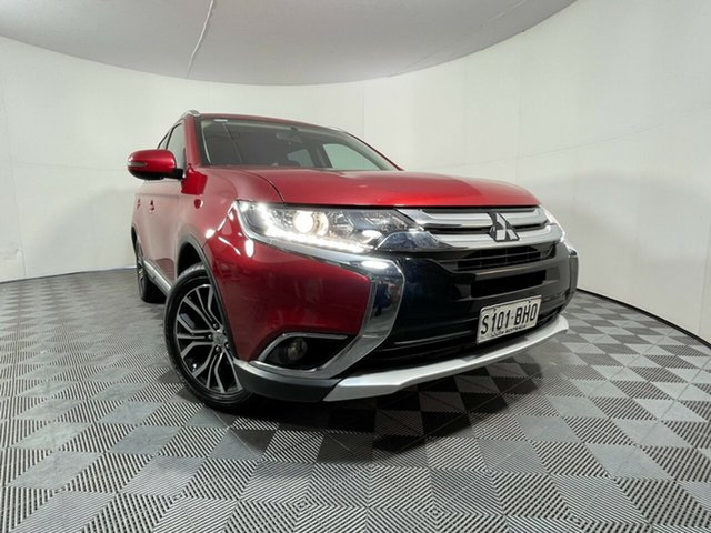 Used Mitsubishi Outlander ZK MY16 LS 4WD Wayville, 2015 Mitsubishi Outlander ZK MY16 LS 4WD Red Metallic 6 Speed Constant Variable Wagon
