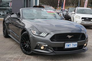 2016 Ford Mustang FM GT SelectShift Grey 6 Speed Sports Automatic Convertible.