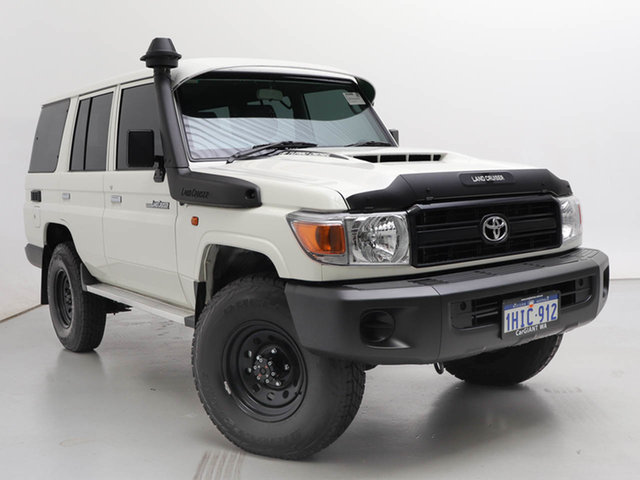 Used Toyota Landcruiser 70 Series VDJ76R Workmate, 2021 Toyota Landcruiser 70 Series VDJ76R Workmate White 5 Speed Manual Wagon