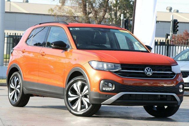 New Volkswagen T-Cross C1 MY21 85TSI DSG FWD CityLife Indooroopilly, 2021 Volkswagen T-Cross C1 MY21 85TSI DSG FWD CityLife Energetic Orange 7 Speed