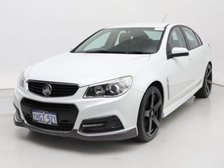 2014 Holden Commodore VF SS White 6 Speed Automatic Sedan.