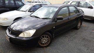 2007 Mitsubishi Lancer ESCH MY07 Black Manual Sedan