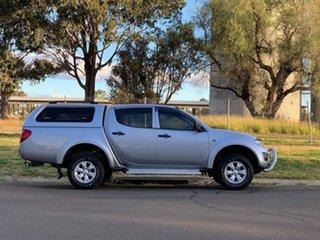 2014 Mitsubishi Triton MN MY14 Update GLX (4x4) Silver 5 Speed Manual 4x4 Double Cab Chassis.