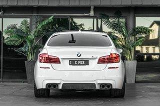 2013 BMW M5 F10 MY1112 M-DCT White 7 Speed Sports Automatic Dual Clutch Sedan.