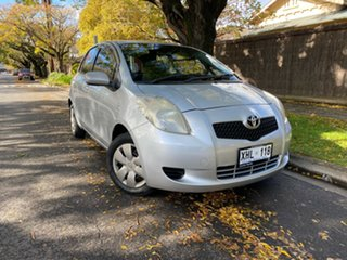 2005 Toyota Yaris NCP90R YR White 4 Speed Automatic Hatchback.