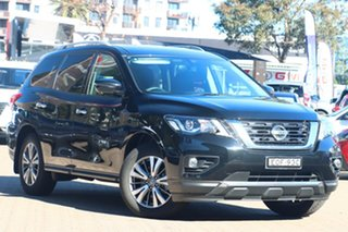 2019 Nissan Pathfinder R52 MY19 Series III ST-L (2WD) Diamond Black Continuous Variable Wagon.