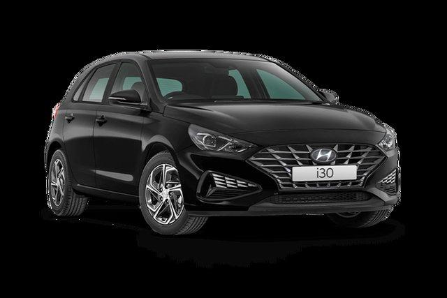Demo Hyundai i30 PD.V4 MY21 Hamilton, 2021 Hyundai i30 PD.V4 MY21 Phantom Black 6 Speed Sports Automatic Hatchback