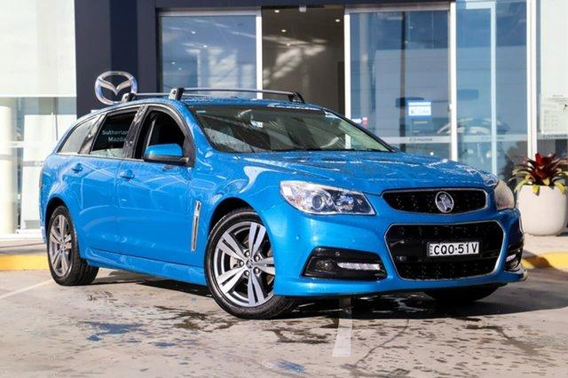 Used Holden Commodore VF MY14 SV6 Sportwagon Kirrawee, 2013 Holden Commodore VF MY14 SV6 Sportwagon Blue 6 Speed Sports Automatic Wagon