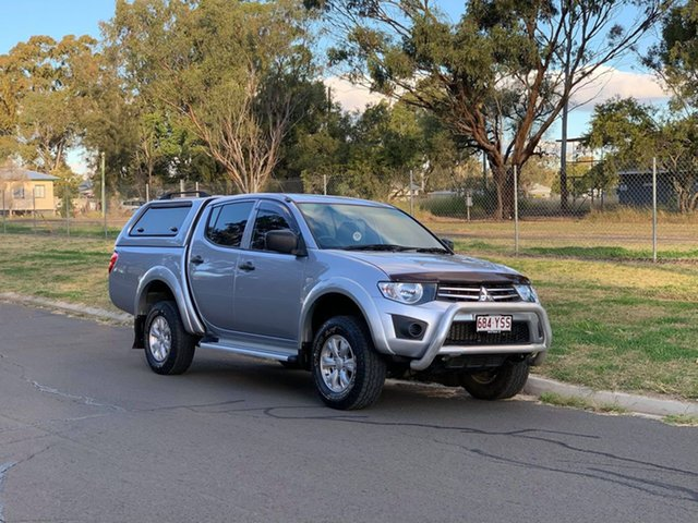 Pre-Owned Mitsubishi Triton MN MY14 Update GLX (4x4) Oakey, 2014 Mitsubishi Triton MN MY14 Update GLX (4x4) Silver 5 Speed Manual 4x4 Double Cab Chassis