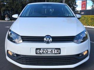 2015 Volkswagen Polo 6R MY15 66TSI Trendline White 5 Speed Manual Hatchback.