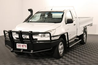 2014 Holden Colorado RG MY14 DX White 6 speed Manual Cab Chassis.