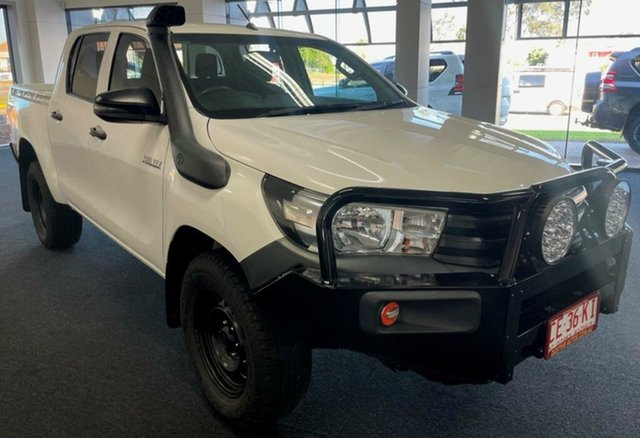 Used Toyota Hilux GUN125R Workmate Double Cab Winnellie, 2018 Toyota Hilux GUN125R Workmate Double Cab White 6 Speed Manual Utility