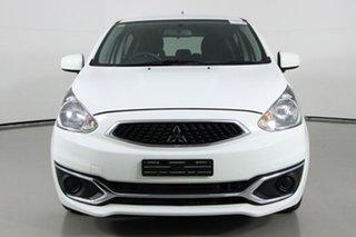 2017 Mitsubishi Mirage LA MY16 ES White 5 Speed Manual Hatchback.