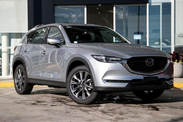 New Mazda CX-5 KF4WLA Akera SKYACTIV-Drive i-ACTIV AWD Kirrawee, 2021 Mazda CX-5 KF4WLA Akera SKYACTIV-Drive i-ACTIV AWD Sonic Silver 6 Speed Sports Automatic Wagon