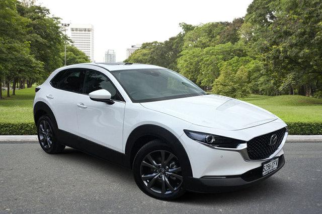 Used Mazda CX-30 DM4WLA X20 SKYACTIV-Drive i-ACTIV AWD Astina Paradise, 2020 Mazda CX-30 DM4WLA X20 SKYACTIV-Drive i-ACTIV AWD Astina White 6 Speed Sports Automatic Wagon