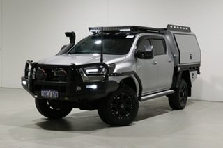2020 Toyota Hilux GUN126R MY19 Upgrade SR5 (4x4) Silver 6 Speed Automatic Double Cab Pick Up.