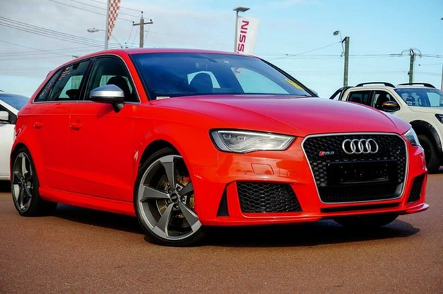 Used Audi RS 3 8V MY16 Sportback S Tronic Quattro Osborne Park, 2016 Audi RS 3 8V MY16 Sportback S Tronic Quattro Red 7 Speed Sports Automatic Dual Clutch Hatchback
