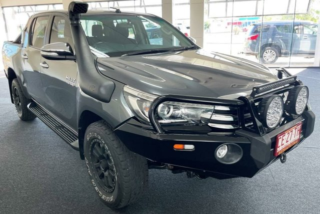 Used Toyota Hilux GUN126R SR5 Double Cab Winnellie, 2017 Toyota Hilux GUN126R SR5 Double Cab Charcoal 6 Speed Sports Automatic Utility