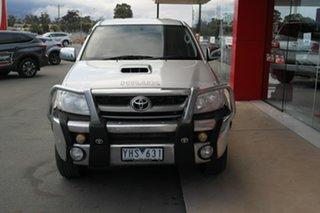 2011 Toyota Hilux KUN26R MY10 SR5 Silver 4 Speed Automatic Utility.