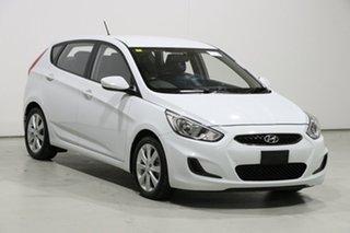 2017 Hyundai Accent RB6 MY18 Sport White 6 Speed Manual Hatchback