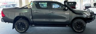 2017 Toyota Hilux GUN126R SR5 Double Cab Charcoal 6 Speed Sports Automatic Utility.