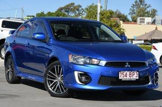 2015 Mitsubishi Lancer CF MY16 GSR Blue 6 Speed Constant Variable Sedan.